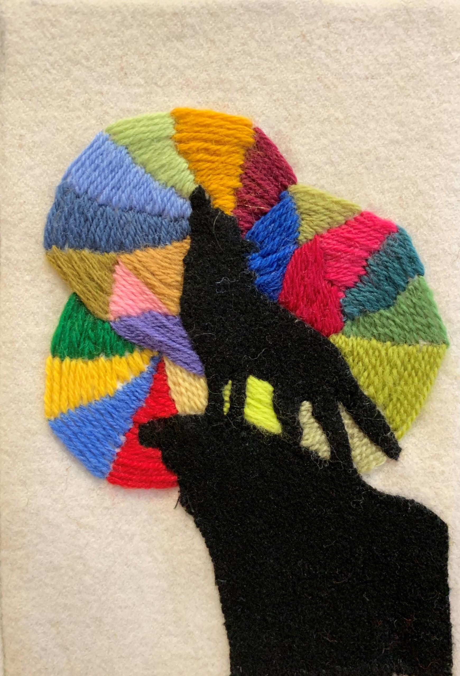 """Om vargen: """"Många är ensamma och isolerade men det finns ett hopp och en färgsprakande värld där ute."""""""